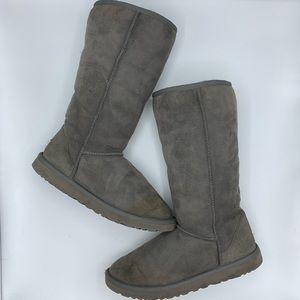 UGG Australia Gray Classic Tall Winter Fur Boots